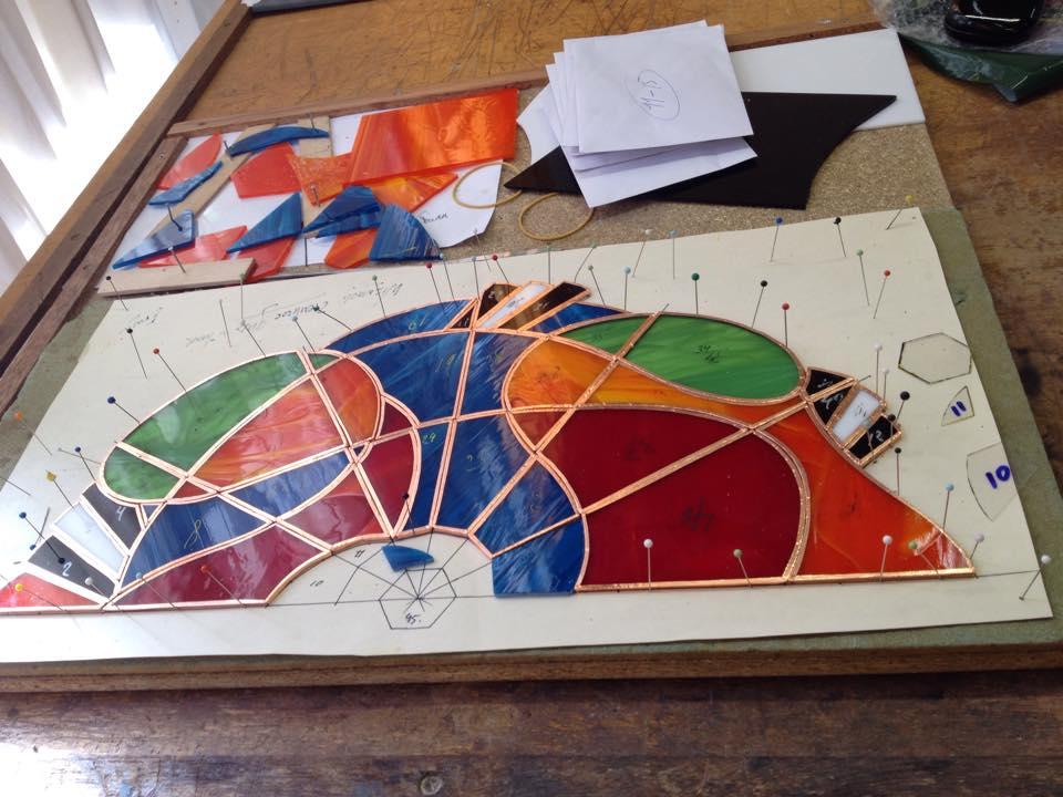 overzicht houden op je ontwerp tijdens de tiffany 2 en 3 D cursus