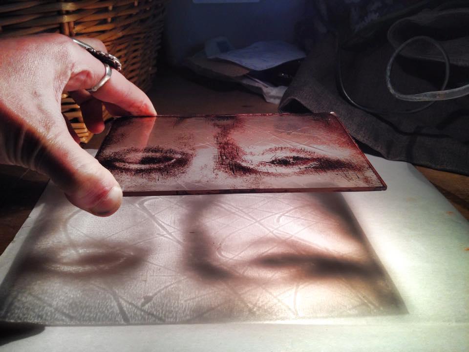 Leonardo da vinci Mona Lisa gemaakt op de cursus brandschilderen