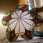 baarmoeder lamp, gemaakt door een cursiste van de tiffany glas cursus 2 en 3 D