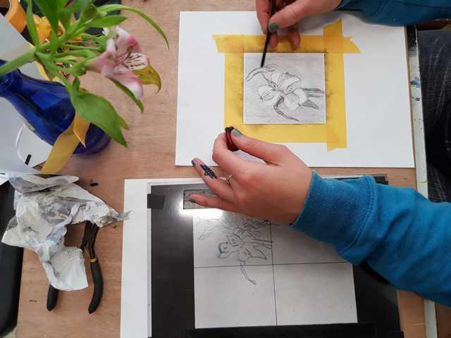 werken met een frame tijdens de tekenen met de rechterhersenhelft cursus