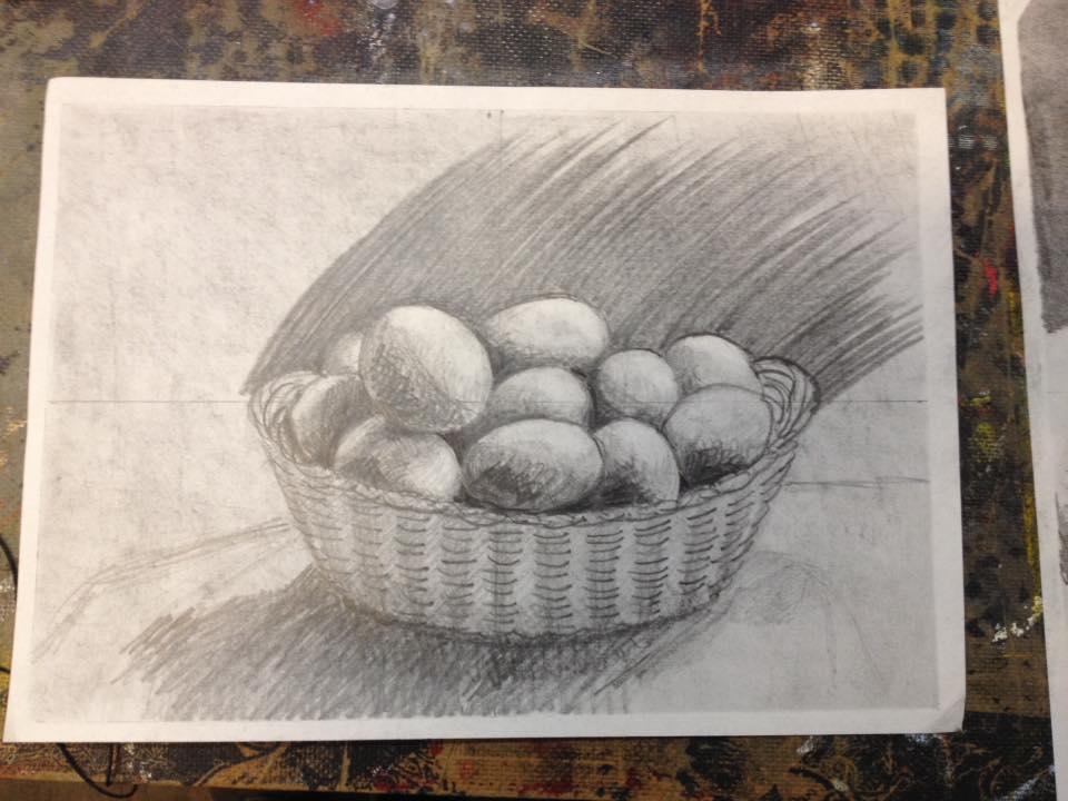 tekening gemaakt tijdens de cursus tekenen met de rechterhersenhelft