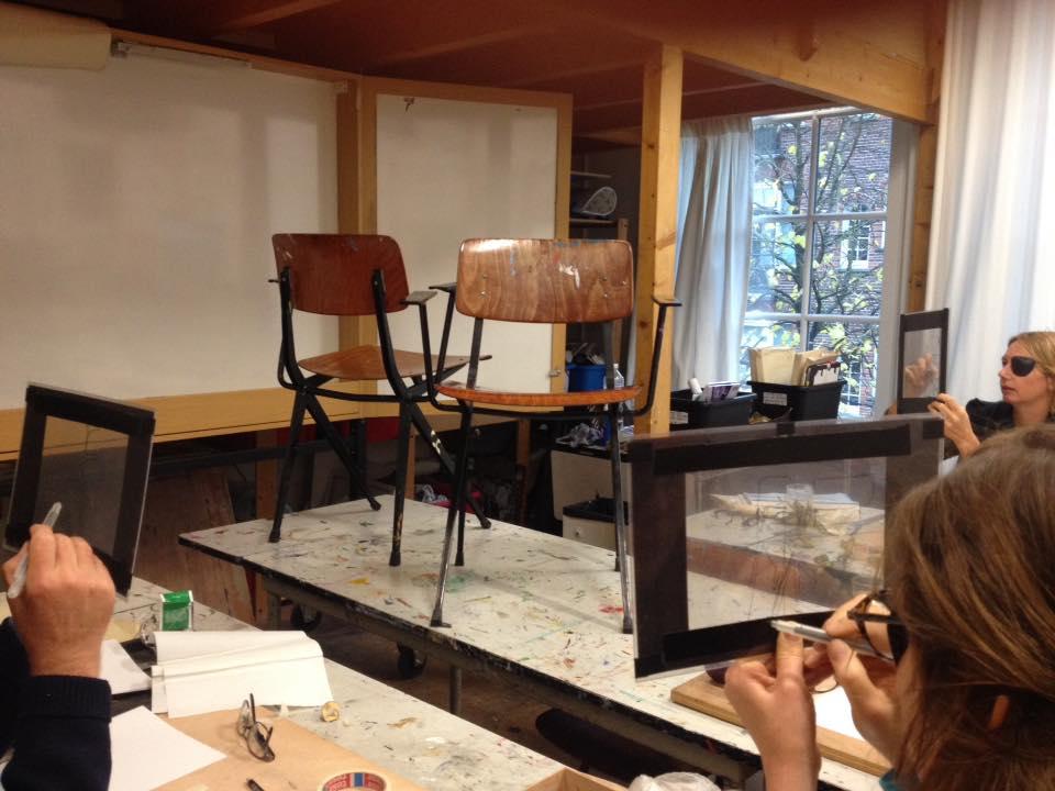 leren zien van lege ruimtes tijdens de tekenen met de rechter hersenhelft cursus