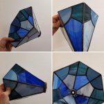 ontwerp met vlakken gemaakt tijdens de tiffany 2 en 3 D glas cursus