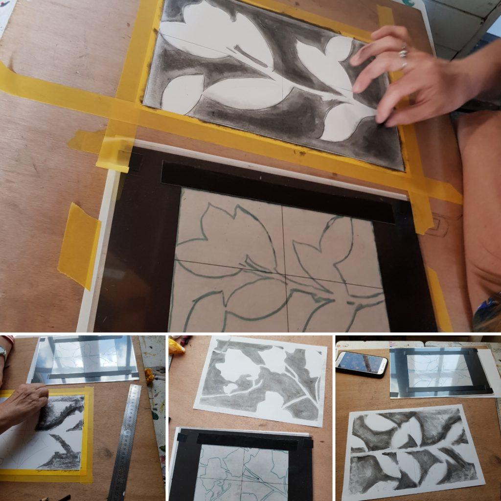 lege ruimtes leren zien tijdens de cursus tekenen met de rechter hersenhelft