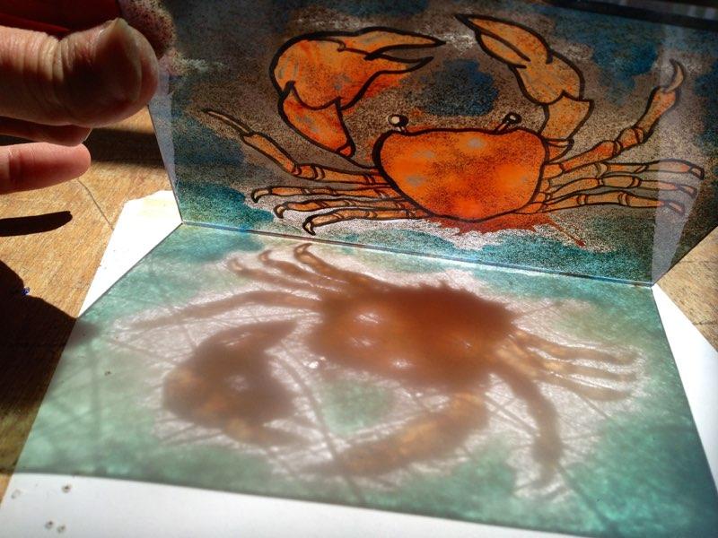 brandschilder raampje, kreetje, met emaille, tijdens de brandschilder cursus gemaakt