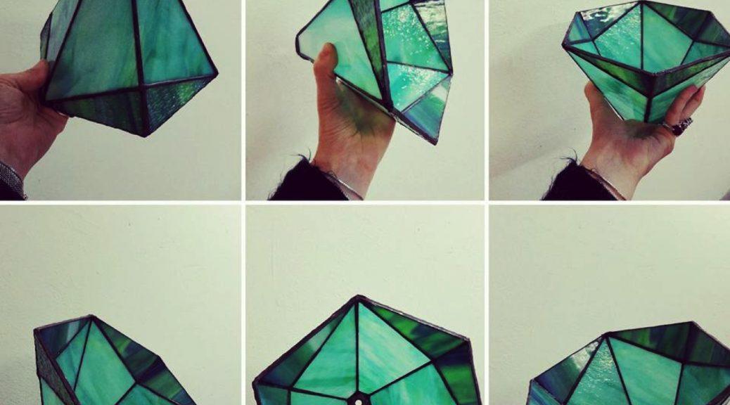 lamp gemaakt door cursiste 2 & 3 D Tiffany cursus